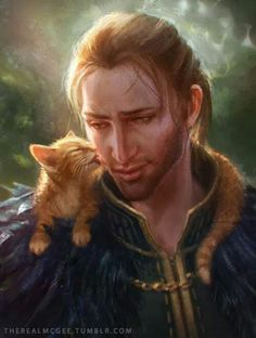 >:'( Why do I get the feels every time I see Anders and a kitty? Dragon Age