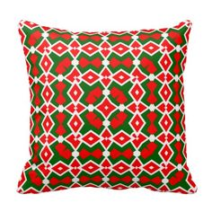 Holiday Geo 9 Throw Pillows