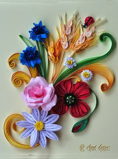 Quilling - Poppies, Daisies and Cornflowers (2)