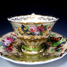 We had teas at Four Mile and each person would have a different cup and saucer that was decorated like this. This is stunning!