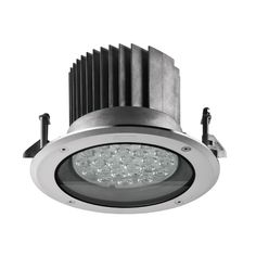 """Nikon Recessed Ceiling LED • 7.87"""" Diameter •Round or Square •Stainless Steel or Aluminum •W27 - W30 - W40 •3 Beam Spreads •Type II, III & IV Distribution • Up to 2468 Lumens"""