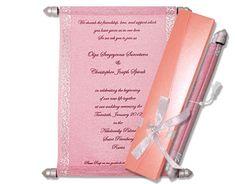 Pink theme Sweet 16 Scroll Invitations Scroll Wedding Invitations, Scroll Invitation, Pink Invitations, Sweet 16 Birthday, 16th Birthday, Menu Cards, Table Cards, Money Envelopes, Sweet Box