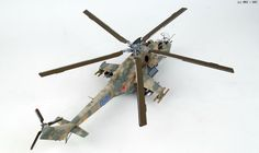"""Mil Mi-24 """"Hind"""", TRUMPETER 1/35 scale. By Hong Hwan Jang aka 쩜백. #scale_model #helicopter #chopper #aircraft"""