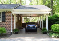 A step by step guide to building a pergola for your garage or carport.