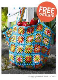 Search Press Granny Square Bag Free Pattern | Deramores