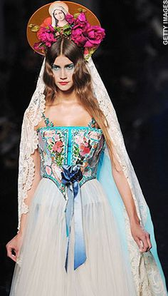 Gaultier Made Fashion A Religious Experience in His S/S 2007 Haute Couture Collection..