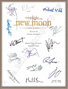"Twilight ""New Moon"" Signed Script"