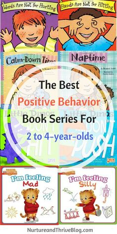 Need your child's behavior to change? Books are a great place to start.  Positive Behavior Book Series for 2 to 4-year-olds. Great resources for parents from Ashley Soderlund Ph.D. via /nthrive/
