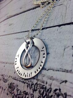 Infinity stainless steel design True friendship by LisaJoysDesigns, $22.00