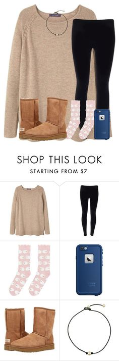 day 3: chill day by ponyboysgirlfriend ❤ liked on Polyvore featuring Violeta by Mango, Accessorize, LifeProof, UGG Australia and oneyearformartha
