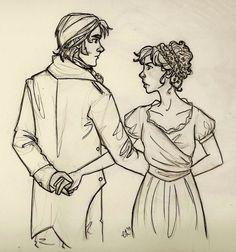 Pride and Prejudice / Elizabeth Bennet and Mr. Fitzwilliam Darcy
