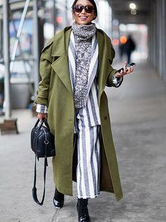 GlamSide: Stylizacje z długim płaszczem