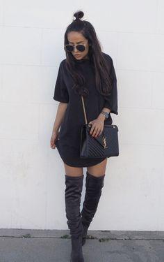 Kajsa Svenssonis wearing an oversized tee in true minimalist...