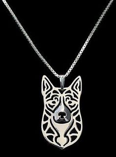 Australian Cattle Dog Pendant Necklace - Fashion Jewellery - Silver Plated | eBay