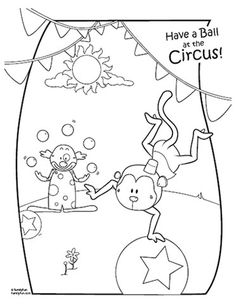 circus theme coloring pages - photo#19
