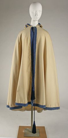 Cloak, ca 1868, American or European, silk - MM collection