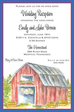 Barn Party Invitatio