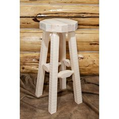 Brimming with bold, rustic charm, the Montana Woodworks 30 in. Homestead Backless Barstool adds the perfect touch to your bistro table,. Rustic Charm, Rustic Style, Wood Frame Construction, Backless Bar Stools, 30 Bar Stools, Log Furniture, Wood Bars, Wood Design, Barn Wood