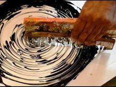 kreativ-statt Bild Acryl Hintergrund mit Schwamm / Background with Sponge - YouTube