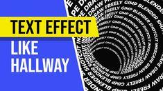 Inkscape Text Effect like Hallway Tutorial Typography Tutorial, Inkscape Tutorials, Text Effects, Learning, Studying, Teaching, Onderwijs
