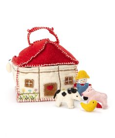 Look at this #zulilyfind! Felted Farm House Set by Én Gry & Sif #zulilyfinds