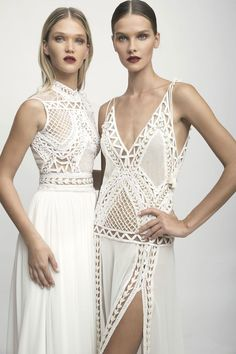 """Brides looking for a fairy princess or bohemian chic wedding inspiration will find loads of it in Lior Charchy's 2017 bridal collection """"NYC Wedding Dresses Nyc, Ethereal Wedding Dress, Wedding Dress Styles, Bridal Dresses, 20s Wedding, Wedding Veils, Wedding Hair, Bridal Hair, Lace Wedding"""