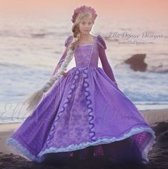 Couture Rapunzel Tangled-Inspired Costume by EllaDynae on Etsy Rapunzel Costume, Rapunzel Dress, Evil Queen Costume, Disney Princess Dresses, Disney Costumes, Couture, Lolita Dress, Tangled, Beautiful Dresses