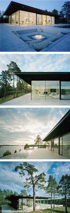 Modern Lake House by John Robert Nilsson