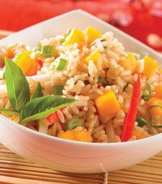 """""""Ensalada de arroz integral tropical"""" ¡Simplemente deliciosa!"""