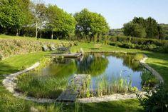 Natural Swimming Pond Designs from Gartenart Swimming Pool Pond, Natural Swimming Ponds, Natural Pond, Pond Landscaping, Ponds Backyard, Pond Design, Landscape Design, Design Design, Design Fonte