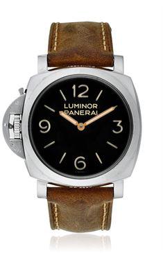 PANERAI LUMINOR 1950 LEFT-HANDED 3 DAYS ACCIAIO MEN'S MANUAL WATCH PAM00557