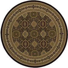 Westminster Tabriz Panel Brown Rug (7'10 Round)