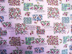 Tiny different style flowersPinkCotton Hand by HeavenKnow on Etsy