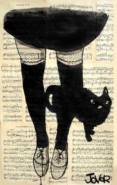"Saatchi Online Artist Loui Jover; Drawing, ""this be cat"" #art"