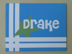 Personalized painted canvas sign I made for a sweet baby boy's room.