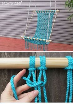 Creative DIY Macrame Chair Decor to Try ASAP is part of Macrame diy - Macrame chair will give you a long lasting touch Enjoy your time of reading book or listening to the music … Diy Hammock, Hammock Chair, Crochet Hammock, Chair Cushions, Pot Mason Diy, Mason Jar Crafts, Bottle Crafts, Macrame Chairs, Macrame Projects