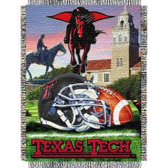 This would look AWESOME in my Red Raider Livingroom! Texas Tech Red Raiders 48x60 Home Field Advantage Tapestry Throw