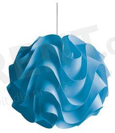 Luster na lanku 1xE27/60W W-3022 modrý- Rent.sk