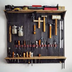 A Wall-mounted Rack for my Leatherworking Instruments.... >> Learn more at the picture