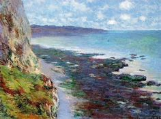 1882, Claude Monet / Cliff near Dieppe