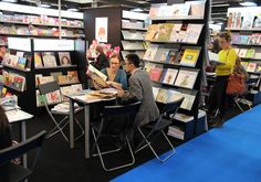 Frankfurt Book Fair and the exhibition stand of France in 2014. Photo by Coriosi.