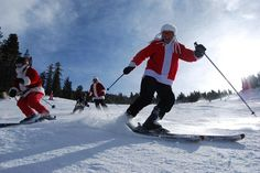 skiing Santas- 12/10 by Mt. Rose Ski Tahoe, via Flickr