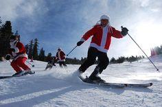 skiing Santas- 12/10 by Mt. Rose Ski Tahoe, via Flickr