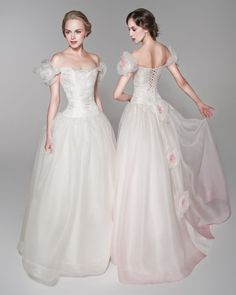 Fairy+Tale+lace+Wedding+Dresses | Betty, fairy tale princess style off-shoulder wedding dress with lace ...