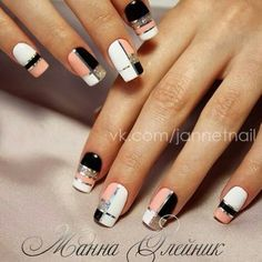 NagelDesign Elegant ( I want plaid nails – pint… ) – NagelDesign Elegant ♥ Square Nail Designs, Elegant Nail Designs, Elegant Nails, Classy Nails, Stylish Nails, Trendy Nails, Cute Acrylic Nails, Acrylic Nail Designs, Cute Nails