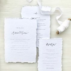 Simple white luxury wedding invitations with modern font for a nordic inspired minimalist wedding. Nordic Wedding, Boho Wedding, Luxury Wedding Invitations, Wedding Stationery, Modern Fonts, Nordic Style, Minimalist Wedding, Modern Calligraphy, Barista
