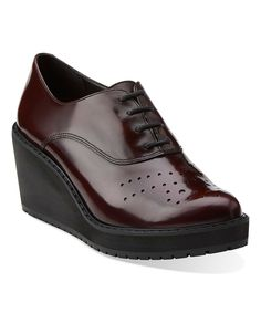 Look at this Burgundy Game Oval Leather Platform Oxford on #zulily today!