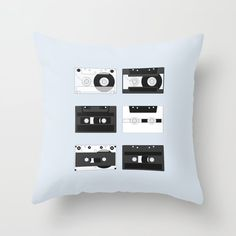 Cassette Pattern #4 | Some kind of nostalgia – I created this artwork to show different designs of the cassette tape. #decoration #unique #design #pattern #music #cassette #cassettes #sound #illustration #illustrator #graphicdesign #digital #stereo #tape #vintage #retro #mixtape #records #nostalgic #Society6 #pillow