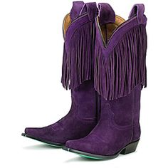 @Overstock - Playful fringe decorates the shaft of these supple suede boots from Lane Boots. A vibrant purple color lends one-of-a-kind style to these cowboy boots. http://www.overstock.com/Clothing-Shoes/Lane-Boots-Womens-Phringe-Purple-Boots/5524556/product.html?CID=214117 Add to cart to see special price