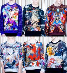 Sweaters. Digital Print Stimulation – Basso & Brooke S/S12 Prints. #NMFallTrends